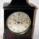 Dodds ebonized bracket clock