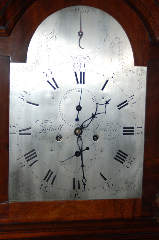 London silvered brass dial clock by Tatnell C1790