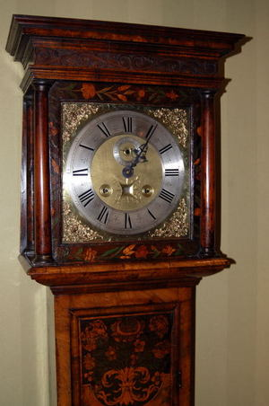 Long duration marquetry clock C1690