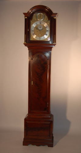 Lovely London mahogany '8-day' grandfather clock