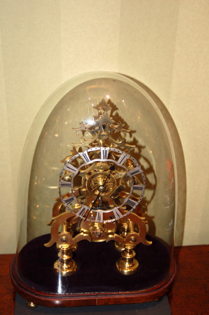 Single Fusee C1860 Skeleton clock