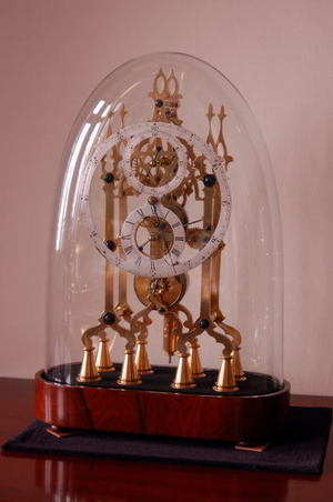 Lovely Early 19th Century Fusee Skeleton Clock