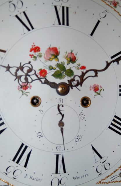 Fine flowers decorated to barber clock
