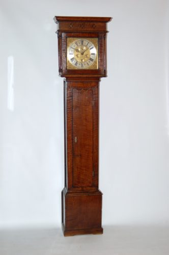 Stunning early oak grandfather clock
