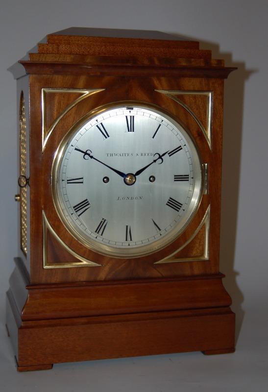 Thwaites And Reed Mahogany Bracket Bell Strike Fusee Clock