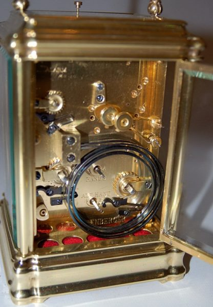 lovely quarter striking carriage clock movement