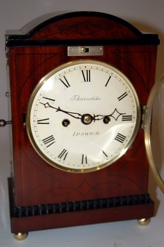 Lovely convex dial of Thorndike clock