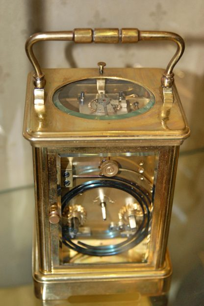 A fine gong strike repeating carriage clock