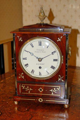 lovely mahogany timepiece bracket clock
